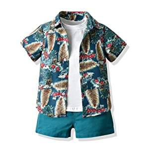 boy summer shorts sets