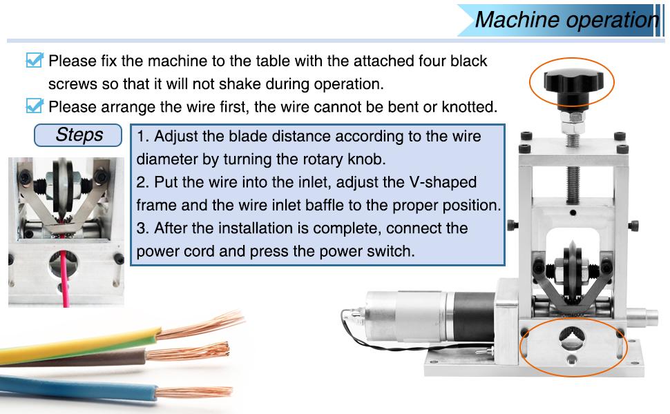 wire stripping machine operation