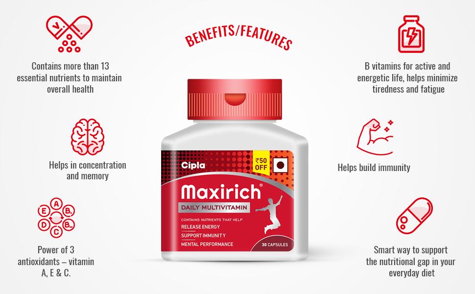 maxirich benefits