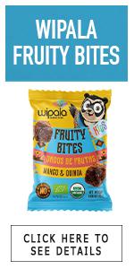 bites square quinoa mango kids fruity wipala snacks saludable dados de frutas