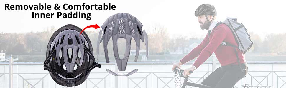 removable and comfortable inner padding