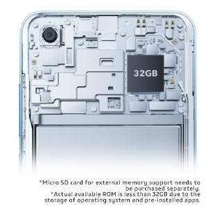 32GB Storage, Expandable up to 256GB