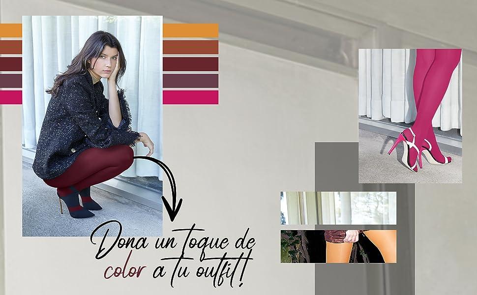 medias invernales, medias negras, medias opacas, media de colore, medias tupidas