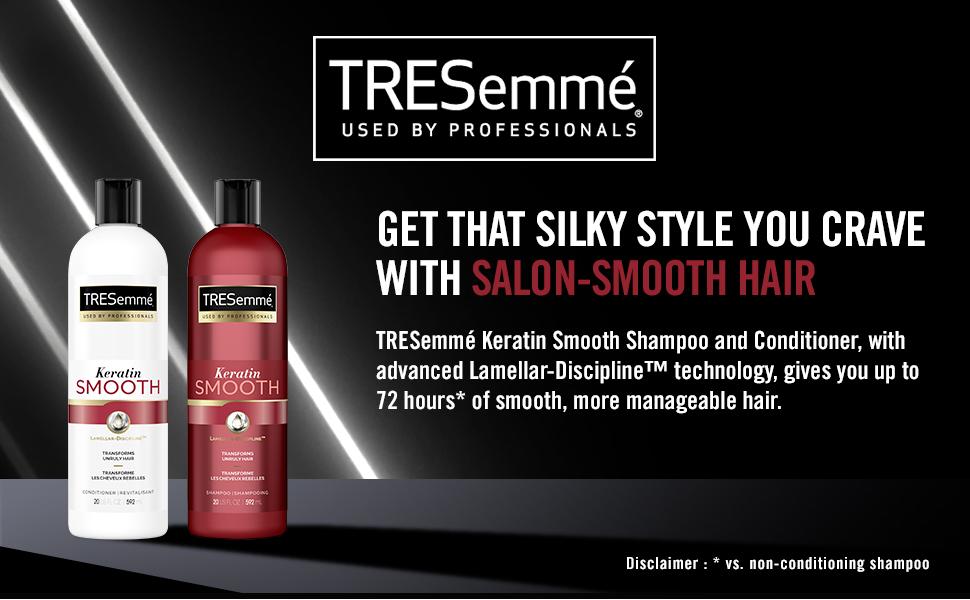 TRESemmé Keratin Smooth Shampoo amp; Conditioner bottles