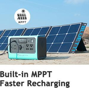 BLUETTI EB70 Solar Generator Bulit in MPPT Faster Charging