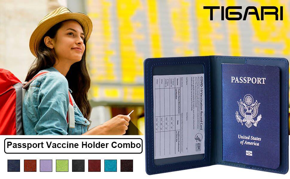 Passport and Vaccine Card Holder Combo