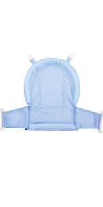 Blue Baby Bath Support Seat Cushion Net Bath Mat Pad Bath Pillow
