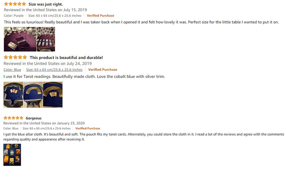 Buyer's reviews