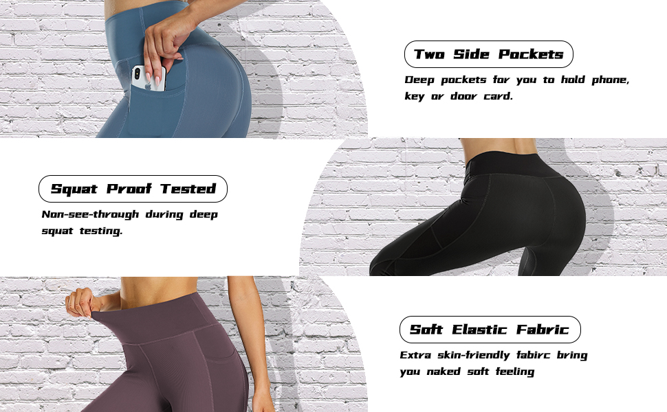 workout yoga leggings with pockets for women gym fitness running volleyball biker leggings