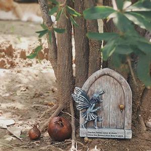 fairy garden door for tree