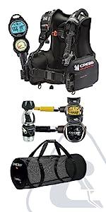 scuba diving package, cressi gear, scuba diving gear, best scuba gear