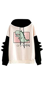 cute dinosaur hoodies for women