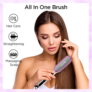 U Type Ceramic Iron Hot Comb,straightening hair brush