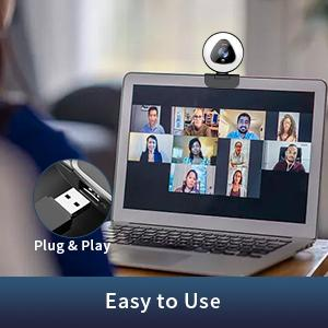webcam with microphone and light