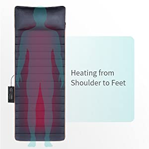4 heating pads for your back, hip, thighs, and calves