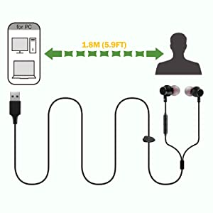 Long Cord 1.8M for PC