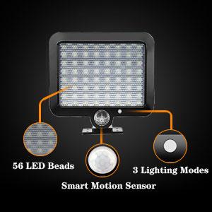 motion sensor light solar, solar security light with motion sensor