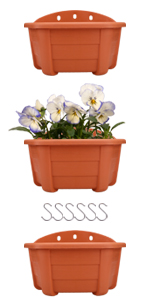 """9.84"""" Wall Hanging Planters"""