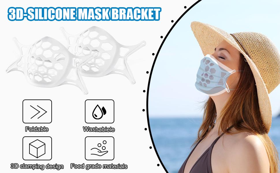 3D face mask bracket
