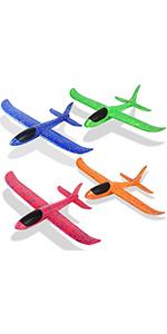 """Foam Airplanes for Kids Toddler 3 Flight Mode 13.5"""" Foam Glider Stunt Airplane Toy"""