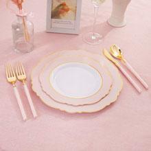 pink plastic cutlery
