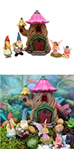 miniature fairy garden barn animals gnomes lady girl indoor outdoor kits adults house cottage