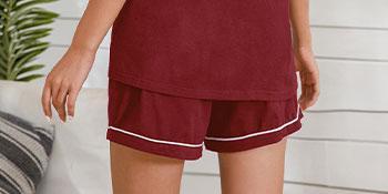 Sleepwear Womens Pajama Set Short Sleeve Pjs Button Down Nightwear Soft Loungewear