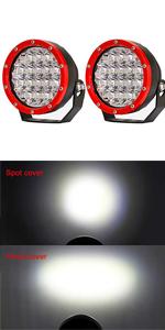 80W White Spot Round Led Pod Driving Light Bar 12V Fog Truck JK 4X4 Motorcycles Off-road Light Bar