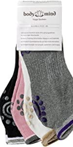 Yoga Socken - 4er Pack rutschfeste atmungsfähige Yogasocken