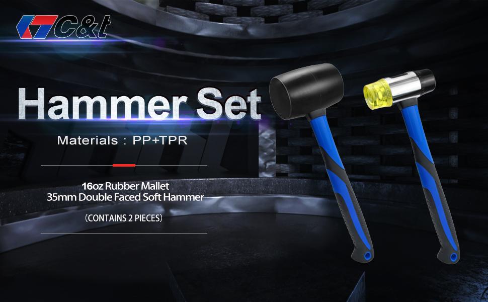 2 Piece  Hammer Set
