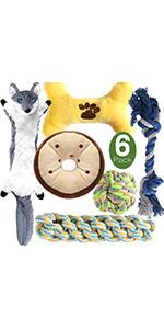 dog toys 6pcs