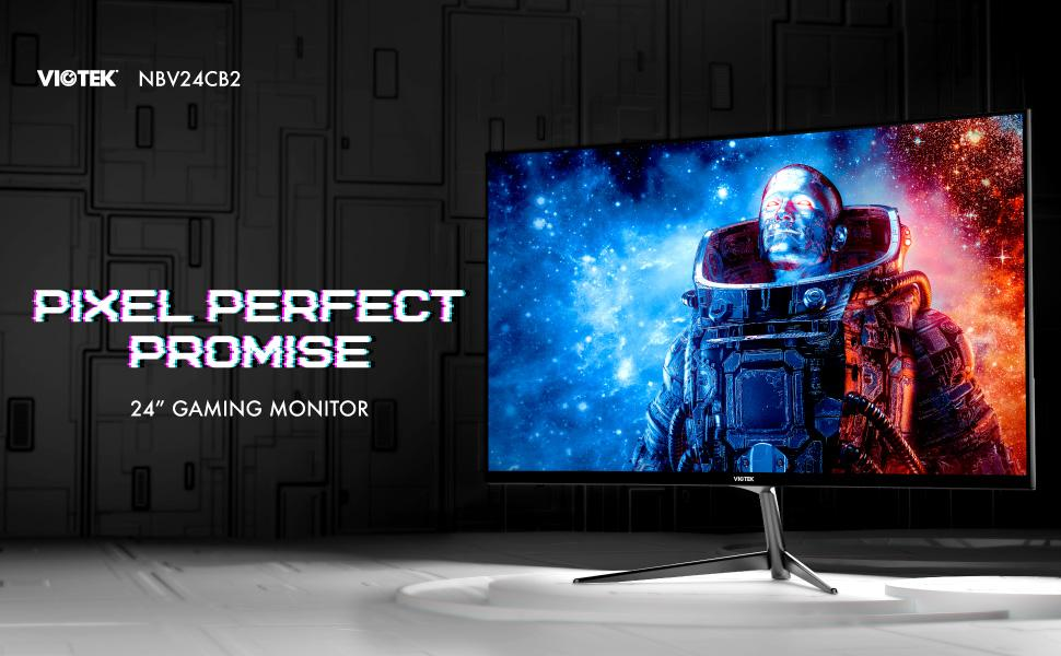 VIOTEK NBV24CB2 24-Inch Curved Monitor, 75 Hz Full-HD Frameless Monitor