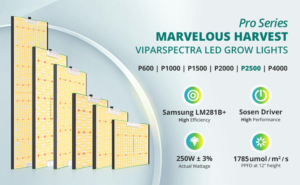 viparspectra p2500 led grow light MARVELOUS HARVEST
