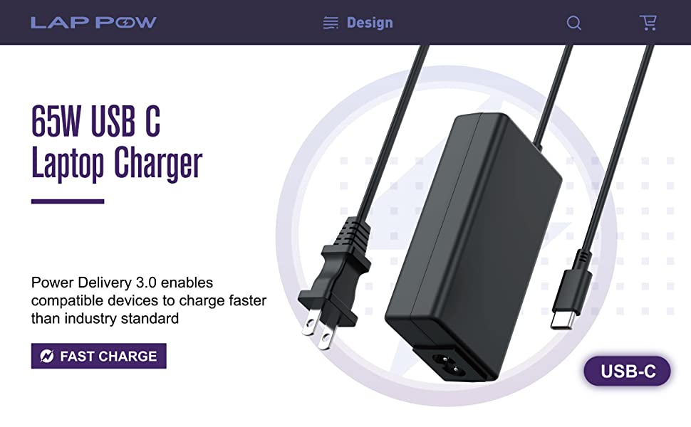 LAP POW 65A USB C Charger for Acer