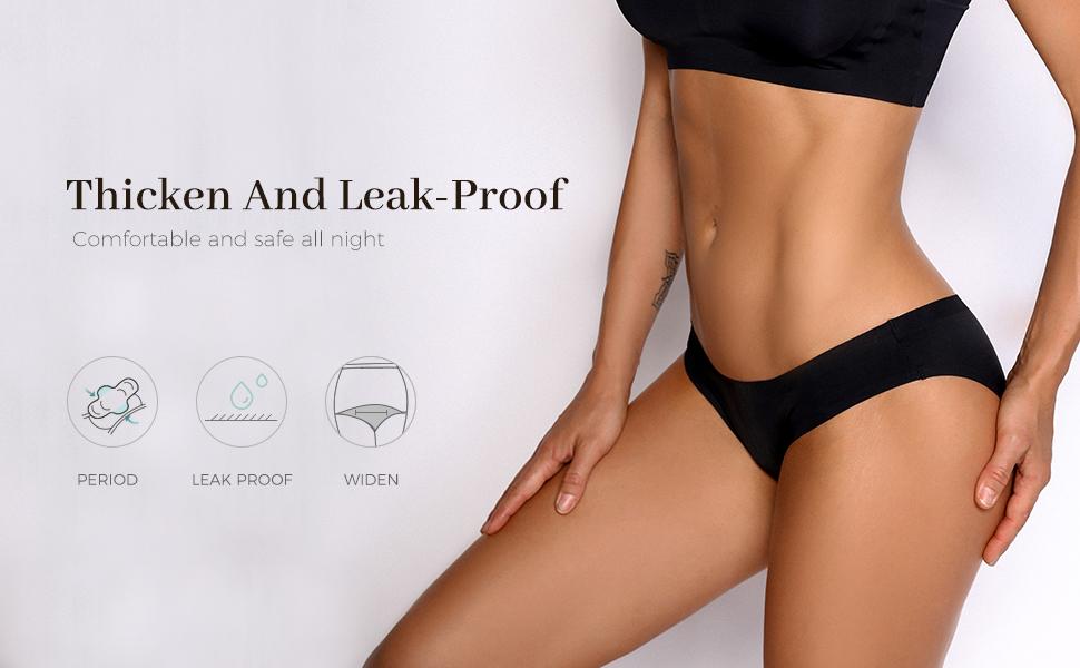 Period Underwear for Women Teen Girls Postpartum Panties 4 Layer Crotch Heavy Flow Bikini Hipster