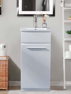 DELAVIN Floor Bathroom Vanity Cabinet With Sink Combo