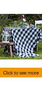 plaid tablecloths