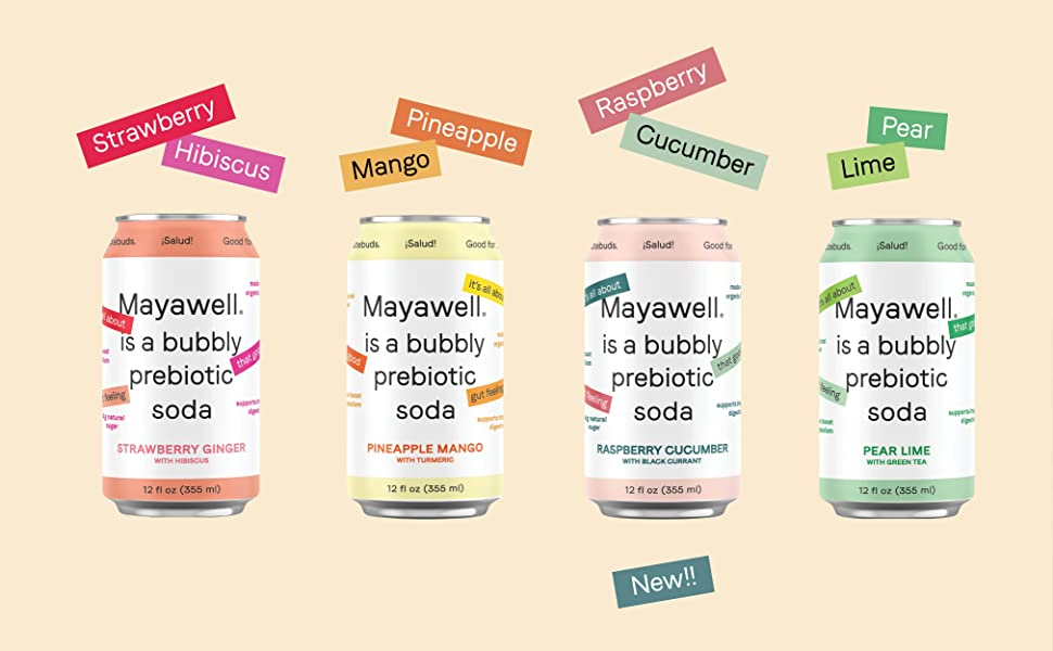 Mayawell prebiotic bubbly drink