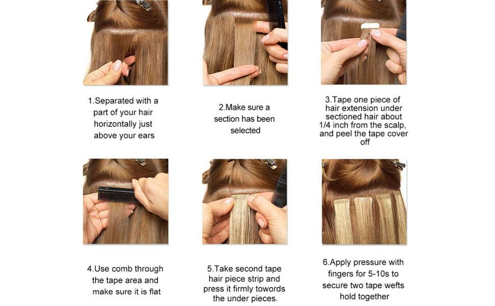 How To Wear Tape In Hair Extensions?