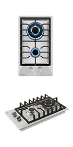 12amp;amp;amp;amp;amp;amp;amp;amp;#34; gas cooktop with 2 burners