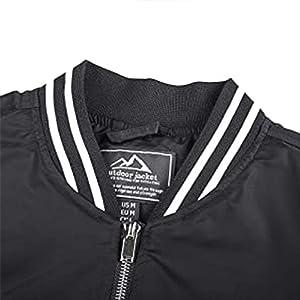 EKLENTSON Jackets for Men Windproof Varsity Pilot Fall Stand Collar Outdoor Coat