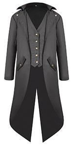 Men Punk Gothic Trench Coat