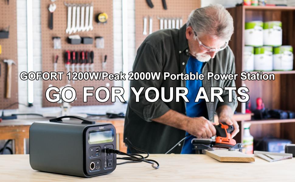 GOFORT 1200W/Peak 2000W Portable Power Station
