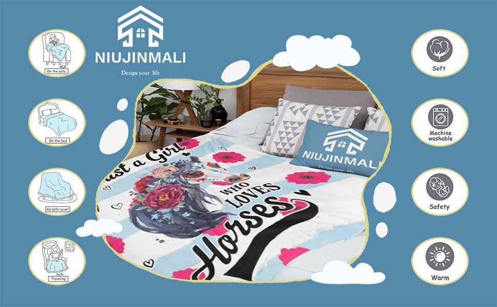 NIUJINMALI  Throw Blanket Super Soft Warm