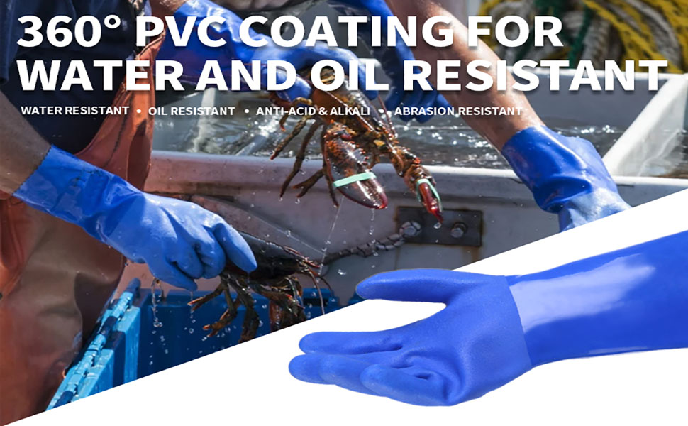 PVC Coated Safety Work Gloves