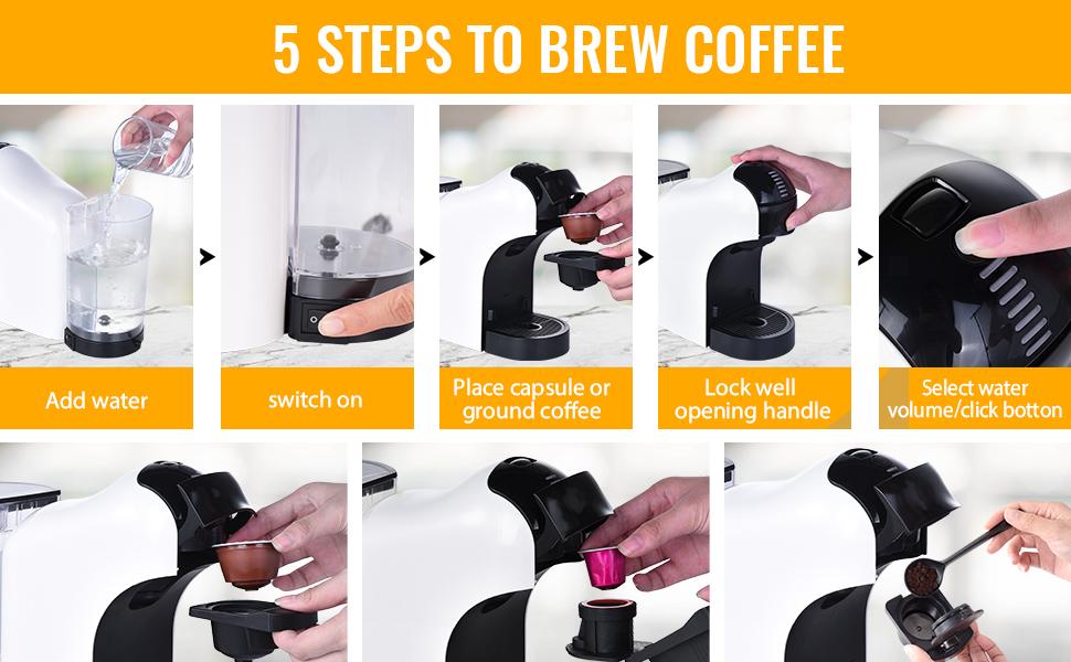 Cafetière Capsule de café