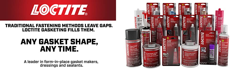 Traditional fastening methods loctite gasketing fills gaps any gasket shape form-in-place