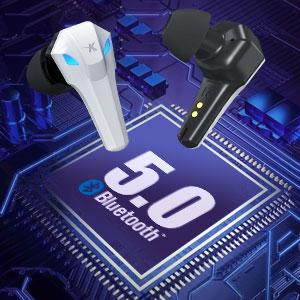 bluetooth 5.0 earphones headphones, stable connection lower consumption