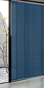 GoDear Design Adjustable Sliding Panel Track Blind Room Divider, Blue Navy, Sapphire