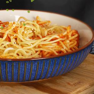 Sky Blue pasta bowl